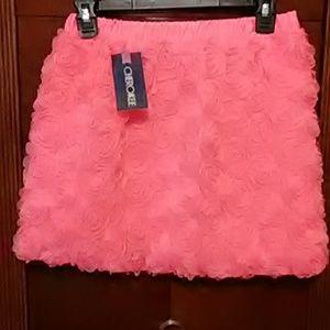 ❤️Nwt stunning neon pink floral tullie Skirt.